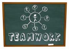 Diagramme de travail d'équipe - tableau illustration stock