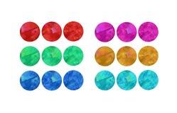 Diagramme de trois boutons illustration libre de droits