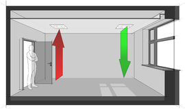 Diagramme de ventilation d'air de plafond Photos libres de droits