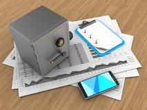 Diagramme des Geschäfts 3D vektor abbildung