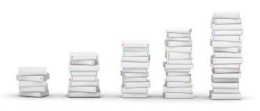 Diagramme des livres Photos libres de droits