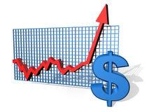 Diagramme du dollar illustration de vecteur