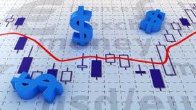 Diagramme du dollar Images stock