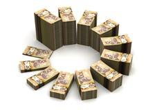 Diagramme du dollar canadien illustration libre de droits