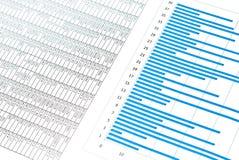 Diagramme et nombres bleus Images libres de droits