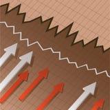 Diagramme financier Images stock