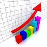 diagramme financier Photos stock