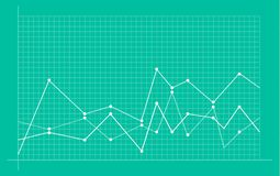 Diagramme financier abstrait avec graphe linéaire tendance à la hausse illustration libre de droits