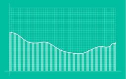 Diagramme financier abstrait avec graphe linéaire tendance à la hausse illustration stock