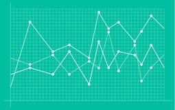 Diagramme financier abstrait avec graphe lin?aire tendance ? la hausse illustration libre de droits