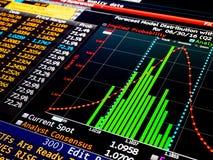 Diagramme financier professionnel d'histogramme Photographie stock libre de droits