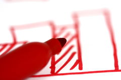 Diagramme genauer Stockfotos