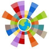 diagramme global illustration stock