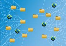 diagramme global de lien réseau de stockage Images libres de droits