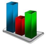 Diagramme graphique Photos stock