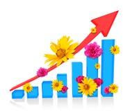 Diagramme graphique avec des fleurs Image libre de droits
