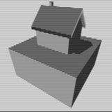 Diagramme graphique noir et blanc de maison Image libre de droits