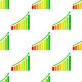 Diagramme haut tridimensionnel sans couture illustration de vecteur