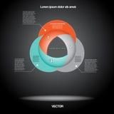Diagramme infographic pour le projet d'affaires, déroulement des opérations Photo stock