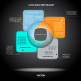 Diagramme infographic pour le projet d'affaires, déroulement des opérations Images libres de droits