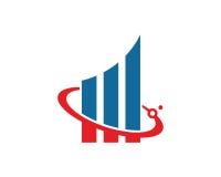 Diagramme Logo Template Design Vector, emblème, concept de construction, symbole créatif, icône Photo libre de droits