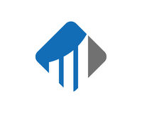 Diagramme Logo Template Design Vector, emblème, concept de construction, symbole créatif, icône Photographie stock libre de droits