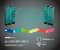 Diagramme mobile Images libres de droits