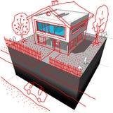 Diagramme moderne de nouvelle conception de maison illustration de vecteur