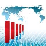 Diagramme négatif d'économie Photographie stock libre de droits