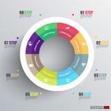 Diagramme numérique abstrait Infographic des affaires 3D Images stock