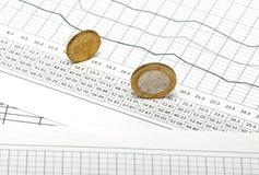 diagramme pieniądze Zdjęcia Stock