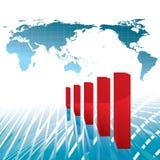 Diagramme positif d'économie Photos libres de droits