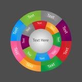 Diagramme radial Infographic image libre de droits