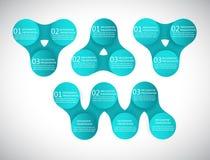 Diagramme rond de metaball d'infographics de vecteur Photographie stock libre de droits