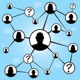 Diagramme social d'amis de medias Photos stock