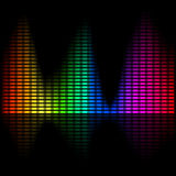 Diagramme spectral lumineux abstrait Image stock
