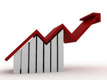 Diagramme u. Fortschritt Lizenzfreies Stockfoto