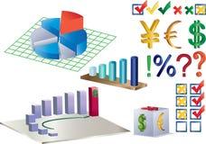 Diagramme und anderes Lizenzfreie Stockfotografie