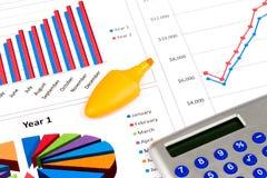 Diagramme und Diagramme Lizenzfreies Stockfoto