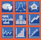Diagramme und Diagramme Stockbild
