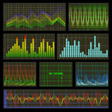 Diagramme und Diagramme Stock Abbildung