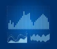 Diagramme und Diagramme eingestellt Stockfotografie