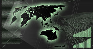Diagramme und Kommunikation Lizenzfreie Stockfotos