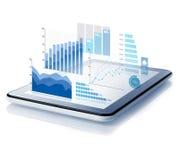 Diagrammen die van tablet ontwerpen royalty-vrije stock afbeelding