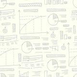 Diagrammen naadloos patroon Vector Illustratie
