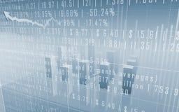 Diagrammes à barres de marché boursier avec des données Photographie stock libre de droits