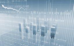 Diagrammes à barres de marché boursier avec des données Photo libre de droits