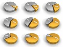 Diagrammes circulaires Photos stock
