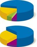 Diagrammes circulaires illustration libre de droits