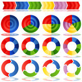 Diagrammes circulaires de processus de cible Photos libres de droits
